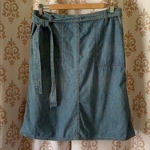Lucky Brand denim jean wrap skirt M